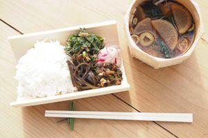 竹のお皿とお椀